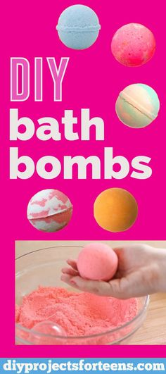 DIY Bath Bombs Recipe and Tutorial - Fun DYI Beauty and Bath Gift - Learn how to make homemade bath bombs like Lush stores then visit our site for other cool crafts for bored teens and creative DIY Projects for adults too via Diy Projects For Adults, Cool Diy Projects, Crafts For Teens, Craft Projects, Making Bath Bombs, Lush Bath Bombs, Easy Crafts To Sell, How To Make Diy, Diy Crafts