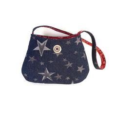 Denim Shoulder Bag / crossbody purse with by CarolJoyFashions