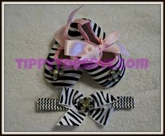 Super cute baby shoes & headband set