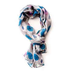 Sketch trees grey scarf - Gogo Chic Jewellery & Fashion Accessories