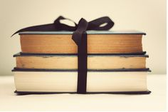 books + simple bow