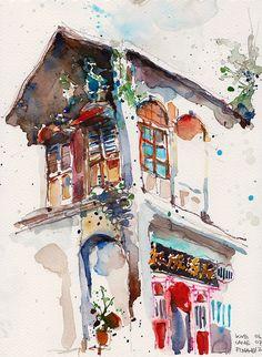 Shophouse @ Love Lane, Penang by PaulArtSG, via Flickr
