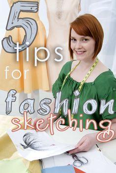 How to Sketch Fashion Designs with Rain Blanken, DIY Fashion Expert.