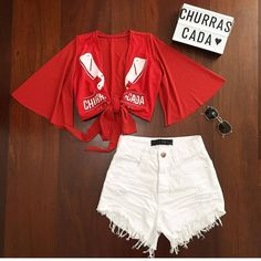 Diy Camisa, Summer Swimwear, Blue Makeup, T Shirt Diy, Grunge Outfits, Refashion, Diy Clothes, Headpiece, White Shorts