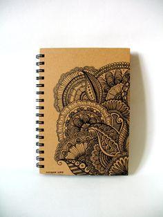 Journal Sketchbook Notebook Hand Illustrated Doodle Ink