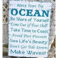 Beach Advice Sayings Ocean Nautical Funny Quotes Beachy