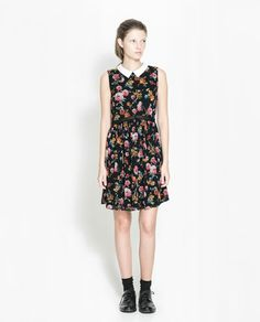 ZARA - TRF - PRINTED DRESS WITH CONTRASTING COLLAR