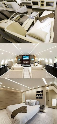 This Private Dreamliner Jet Could Serve as a Second Home #luxuryhelicopter #LuxuryGoals