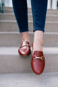 Frannie Burnished Leather Flats (Talbots) via Carly the Prepster