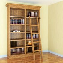 Library Bookcase w/ Ladder