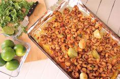 15 Minute One Sheet Pan Cajun Shrimp Rice Bowls One Sheet Pan Suppers Recipe Baked via Dreaming in DIY
