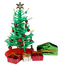 Amazon.com: Lundby Smaland Dollhouse Accessories, Winter Holiday, Christmas Tree with Electric Lights: Toys & Games