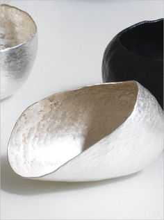 """Raised Vessels (detail)"" by Adele Brereton. Silver, oxidised copper."