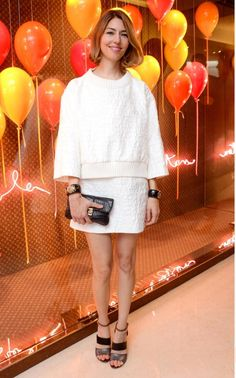 How Sofia Coppola has perfected her signature style Star Fashion, Love Fashion, Girl Fashion, Fashion Outfits, Sofia Coppola Style, White Skirt Outfits, French Girls, Party Looks, Fashion Colours