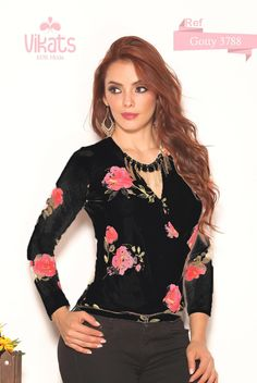 Sexy Blouse from Colombia - can be worn to the office or for a night on the town Sexy Blouse, Night, Shopping, Women, Fashion, Colombia, Moda, Women's, Fasion