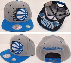 Mitchell & Ness NBA Orlando Magic Grey Blue Snapbacks Quick-Selling Products