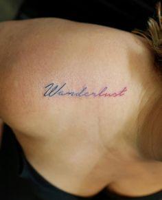Wanderlust gradient tattoo by Georgia Grey