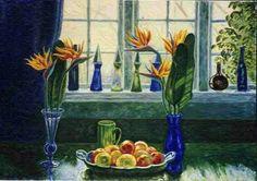 "Johannes Larsen: ""Strelitzia"". 1950."