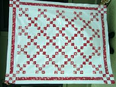Nostalgic Cafe: Red and White Quilt Love