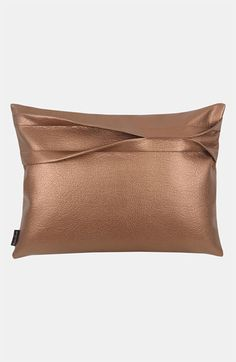 Blissliving Home 'Theo - Copper' Faux Leather Pillow available at #Nordstrom