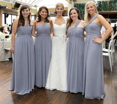 Love the Brides dress, But don't really like the brides maids dress with the shoulder. nice colour though