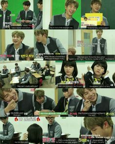 Rap Monster the nice, but slow-witted student and Min Yoonji ❤ Run BTS! 2017 - EP.11 #BTS #방탄소년단