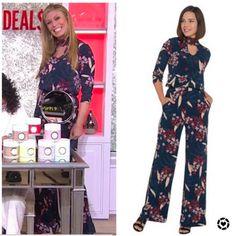 Jenna Bush Hager, Hoda Kotb, Floral Jumpsuit, Today Show, Savannah Chat, Long Sleeve, Dresses, Women, Style