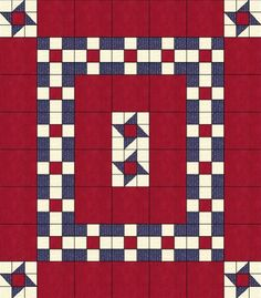 quilts of valor patterns   ... two quilts. One blue version and one red version. How easy is that