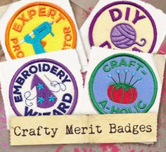 You've earned the highest distinctions in crafting, now show it off with a set of sassy merit badges! Each design stitches up as a freestanding in-the-hoop patch, perfect for collecting on denim jackets, craft totes, and more.