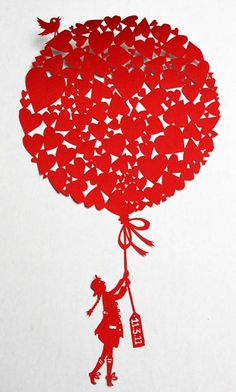 Paper cut. For Japan, from Famille Summerbelle.