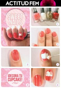 Tutorial: Cupcake Nails  #nailart #nailtutorial #nails #manicure #tutorial #diy #esmalte #bellezafem #viernesdemanicure #uñas