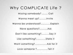 keep things simple.