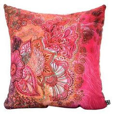 Stephanie Corfee Flourish Berry Throw Pillow - DENY Designs®