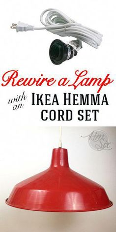 Sensational How To Rewire A Lamp With An Ikea Hemma Cord Set In 2019 Diy Wiring 101 Carnhateforg