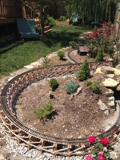 Backyard Trains for Sale . Backyard Trains for Sale . Garden Railings, Natural Gas Fire Pit, Trains For Sale, Garden Railroad, Cottage Garden Design, Model Train Layouts, Model Trains, Toy Trains, Back Gardens