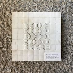 Stumbled upon this rather nice ceramic piece in the today. Complete with rather naff blue-tacked description. Art Tiles, Barbican, Ceramic Artists, Modernism, Concrete, Product Description, Ceramics, Nice, Instagram