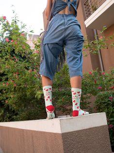 hearts socks  - fun prints designed socks Office Jokes, Cool Socks, Fun Prints, Print Design, Capri Pants, Hearts, Elegant, Fashion, Classy