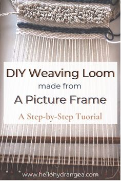 DIY Weaving Loom from Picture Frame - Paper Craft ideas - Weberei Mason Jar Diy, Mason Jar Crafts, Weaving Loom Diy, Loom Weaving Projects, Macrame Projects, Weaving Art, Yarn Projects, Diy Outdoor Weddings, Construction Paper Crafts