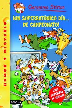 Libro sobre las aventuras de Gerónimo Stilton. En dicho libro el protagonista que hace de detective investigará en un equipo de fútbol... Muy interesante para mis alumnos, ya que les gusta este deporte.