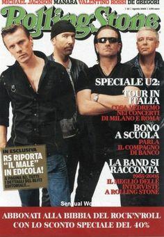 Rolling Stone Magazine Cover Postcard Rock Band U2 Bono Italy Promocard 5654