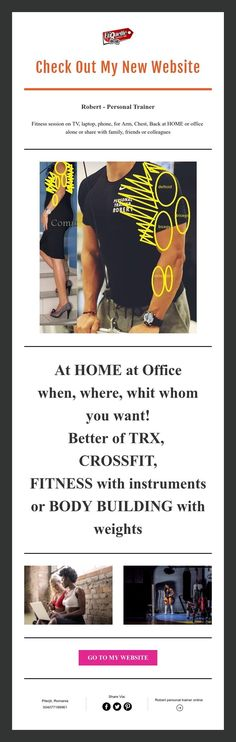 Check Out My New Website Trainer Fitness, I Dare You, Personal Trainer, Bodybuilding, Website, News, Check, Tomy, Muscle Building