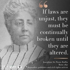 """The Female Quotient® on Instagram: """"Josephine St Pierre Ruffin founded """"The Women's Era,"""" the first national newspaper by and for African American women. She then co-created…"""" We Are Strong, African American Women, Newspaper, The One, Female, Instagram, Quotes, Stone, Journaling File System"""