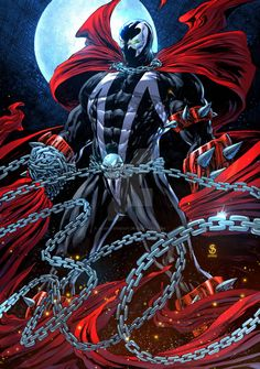 Spawn Marvel, Spawn Comics, Marvel Dc, Space Fantasy, Dark Fantasy Art, Comic Books Art, Comic Art, Spawn Characters, Superhero Facts