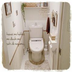 腰壁 ベニア板/トイレ改造進行中/発泡スチロールでレンガ風/フェイクグリーン/いなざうるす屋さんモシャモシャ…などのインテリア実例 - 2015-03-09 21:39:24 | RoomClip(ルームクリップ)
