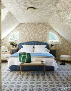 Emilia Fanjul's guest bedroom in January 2014 VOGUE - interior design by Frank de Biasi.  See more design inspiration at www.homepolish.com