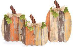 Wood Slat Pumpkin on a Fall Wreath