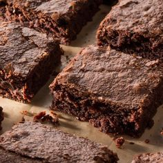 Brownies can go two ways—fudgy or cakey—and these rich, decadent squares decidedly fall into the fudgy category. Add 1 tsp of vanilla for extra goodness Double Chocolate Brownies, Chocolate Desserts, Chocolate Truffles, Chocolate Covered, Best Brownies, Fudgy Brownies, Butterscotch Blondies, Cookie Recipes, Dessert Recipes