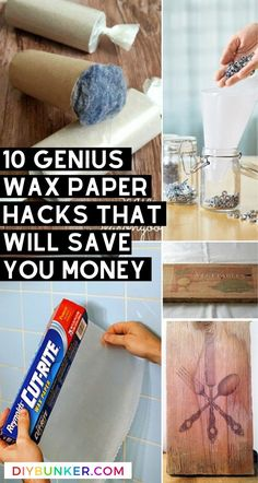 These wax paper projects are great if you're looking to save money with a little DIY! How To Make Paper Flowers, Tissue Paper Flowers, Easy Paper Crafts, Scrapbook Paper Crafts, Diy Crafts, Mason Jar Crafts, Mason Jar Diy, Dollar Store Crafts, Crafts To Sell