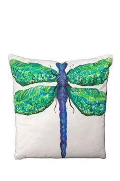 Dragonfly Pillow by Design Trend: Tropical Pillows & Art on @HauteLook