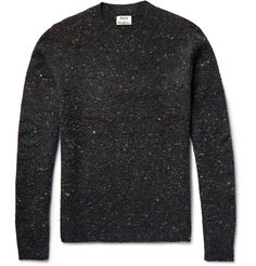 Acne Studios' sweater is hand-pilled to resemble the textured look of boiled fabric. Luxuriously plush, it's knitted from breathable wool-blend with multicoloured Donegal-style flecks, and is woven with touches of soft cashmere. For a contemporary take, wear it with shorts and sneakers.